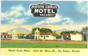 Monte Carlo Motel, 1600 So Main St, Las Vegas, Nevada, NV, Linen