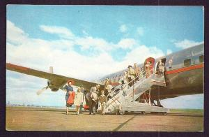 American Airlines DC-6 deplaning unused c1950's