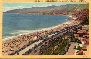 California Santa Monica Los Angeles County Beach Curteich