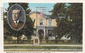 COLUMBIA, South Carolina, PU-1933; Woodrow Wilson's Boyhood Home And Memorial