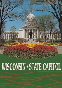 Wisconsin Madison State Capitol Building In The Spring