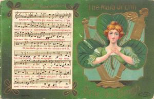The Maid of Erin St. Patrick's Day Postcard 1909