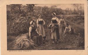 art jardinez peasant women returning from the fields moulin rouge dance advert.