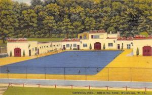 Wheeling West Virginia~Wheeling Park Swimming Pool~1950 Linen Postcard