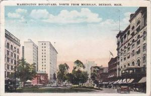 Michigan Detroit Washington Boulevard North From Michigan 1923