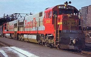Railroads, Train - Santa Fe #356   railroadcards.com