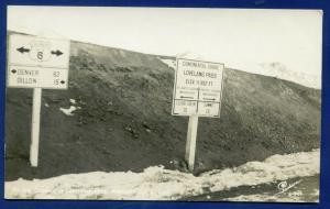 Continental Divide Summit of Loveland Pass Colorado co real photo postcard RPPC