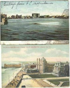 pc2794 postcard Atlantic City New Jersey Older 1908 TWO