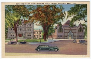 Pittsfield, Mass, Berkshire County Court House And Public Library