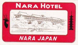 Japan Nara Nara Hotel Vintage Luggage Label sk3941