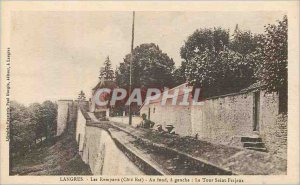 Old Postcard Langres The Premparts (East Coast) the Fund has Left Tower St. F...
