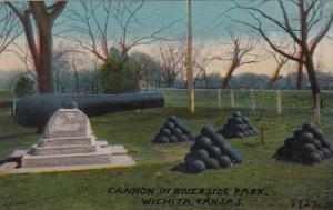 Kansas Wichita Cannon In Riverside Park