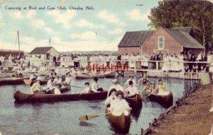CANOEING AT ROD AND GUN CLUB, OMAHA, NE 1909