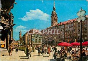 Postcard Modern Marienplatz mit Peter Altern