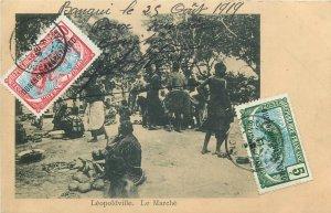 Belgian Congo Belge Leopoldville Le Marche 1919 Oubangui Chari Tchad TCV stamps