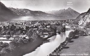 Switzerland Interlaken Unterseen und die Aare  Photo