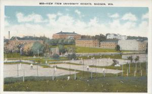 View From University Heights, Madison, Wisconsin, Early Postcard, Unused