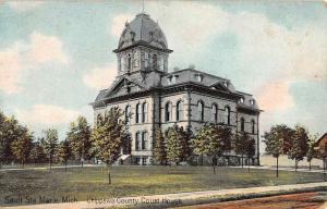 Sault Ste Marie Michigan Chippewa Court House Antique Postcard K61688