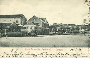 curacao, D.W.I., WILLEMSTAD, Pietermaai, Plein Concordia, Horse Tram (1905)