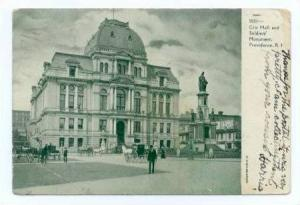 City Hall and Soldiers' Monument, Providence, Rhode Island, PU-1906