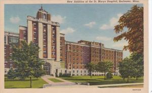 Minnesota Rochester New Addition Of St Marys Hospital Curteich