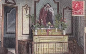Interior View of Church, Jesus Statue Above Altar, Montreal, Quebec, Canada, ...