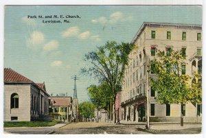 Lewiston, Me, Park St. and M. E. Church