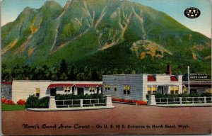 North Bend Washington~North Bend Auto Court on Indian Snoqualmie Pass~1940s