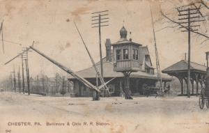 CHESTER , Pennsylvania , 1901-07; Baltimore & Ohio Railroad Station