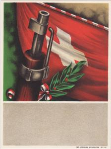 Gun Tournament Poster art , Switzerland, 00-10s ; Flag & Rifle tip