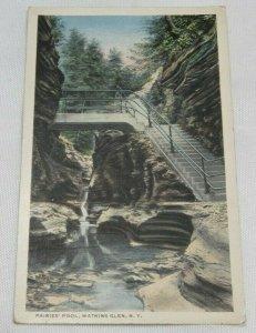 FAIRIES POOL Watkins Glen NEW YORK Vintage Postcard