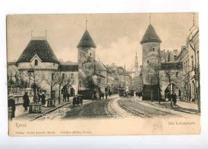 232868 ESTONIA REVAL TALLINN Lehmpforte TRAMS Vintage postcard
