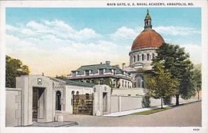 Maryland Annapolis Main Gate U S Naval Academy Curteich