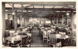 RP Postcard Sunrise Lodge Cafeteria in Rainier National Park, Washington~130608