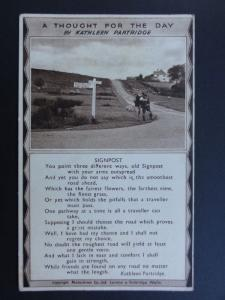 Verse & Poem: A Thought for the day SIGNPOST by Kathleen Partridge - Old PC