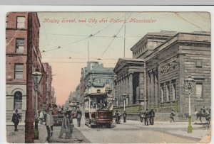 Manchester; Mosley St & City Art Gallery PPC, 1913 PMK, To Mrs Mullett, Dudley