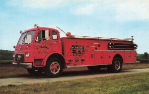 Logansport IN Boyer Fire Truck Delivery to Plainfield IN Postcard