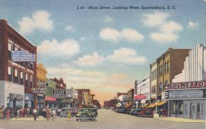 SPARTENBURG, South Carolina; Main Street, Looking West, Classic Cars, Smith´...