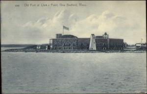 New Bedford MA Fort & Lighthouse c1910 Postcard