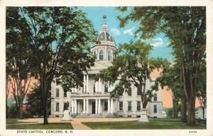 Postcard State Capitol Concord New Hampshire