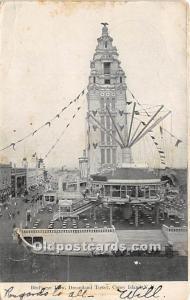 Amusement Park Postcard Post Card Bird's Eye View Dreamland Coney Island...