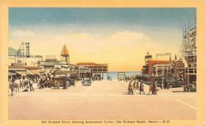 Old Orchard Beach Maine~Amusement Center~Cyclone Entrance~W Theatre~1940s PC