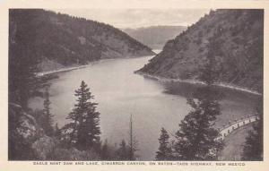 New Mexico Raton Eagle Nest Dam And Lake Cimarron Canyon Albertype