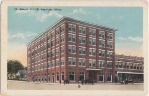 Oklahoma OK Postcard 1920 SAPULPA St James Hotel Building