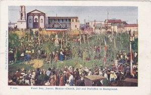 Mexico Juarez Feast Day Church Jail & Post Office In Background sk3689