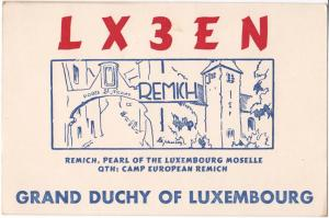 QSL, LX3EN, Remich, Luxembourg, 196-
