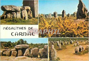 Modern Postcard Carnac in Brittany Colors Celebre its Menec alignments and ke...