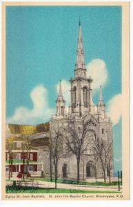 SHERBROOKE, Quebec, Canada, 1900-1910's; St. John The Baptist Church