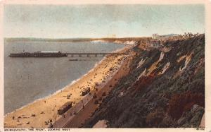Bournemouth, The Front, Looking West, England, early postcard unused