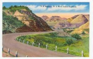 U.S. Highway 10, in North Dakota Badlands 40s